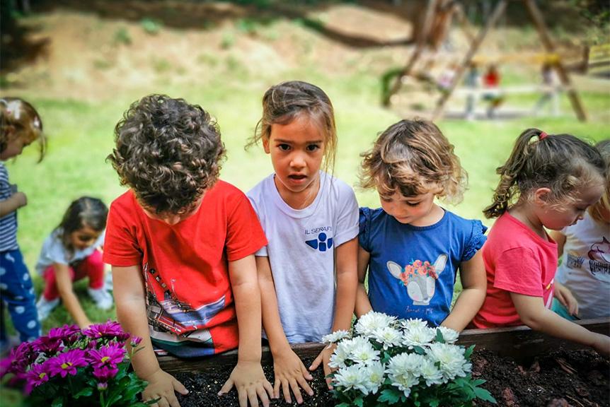 Attivita di giardinaggio bambini seraphicum