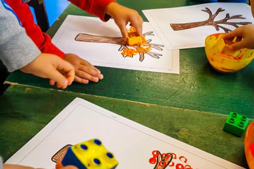 Scuola infanzia seraphicum attivita disegno